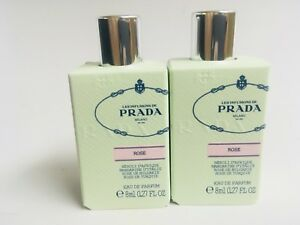 PRADA Milano Infusion ROSE mini 8ml/0.27fl.oz EDP bottle new LOT OF 2