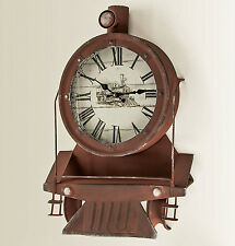 "WALL CLOCKS - ""VINTAGE LOCOMOTIVE"" WALL CLOCK - TRAIN ENTHUSIASTS - MENS GIFTS"