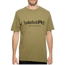 Timberland Pro Apparel Tb0a1hoqc81 Mens Cotton Core Short-sleeve X-large Burnt Olive