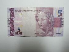 Brazil Paper Money Currency - #253 2010 5 Reais - Well Circulated