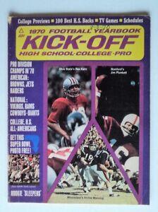 1970 Football Kickoff Yearbook Archie Manning Jim Plunkett Rex Kern - FLASH SALE