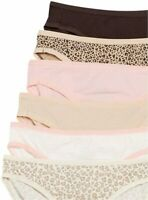 Essentials Women's Cotton Stretch, 6-pack Leopard Assorted, Size Large UQ