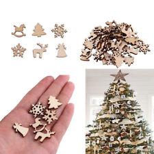 Lk _50Pcs Natale Legno Frammento Decorazioni Albero da Parete Ciondolo Fai-Da-Te