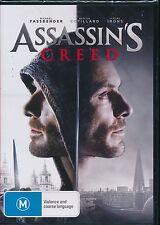 Assassin's Creed DVD NEW Region 4 Michael Fassbender Marion Cotillard