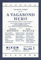 "Vernon Duke ""A VAGABOND HERO"" George Houston / Ruby Mercer 1940 FLOP Flyer"