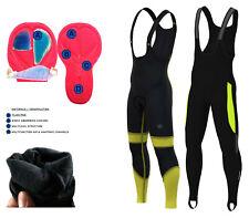 Dhera Mens Pro Bib Tights Winter Thermal  Gel Padded Bicycle Leggings Long Pants