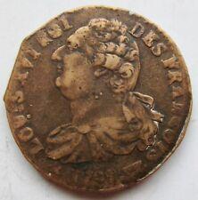 France First Republic 1792-W Bronze 2 Sols Louis XVI Lille Mint