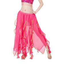 Women Ladies Sequin Side Split Skirt Chiffon Belly Dance Performance Skirt Dress