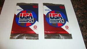2 packs of 1996 USA Olympic Basketball cards