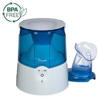 Crane Personal Steam Inhaler and Warm Mist Humidifier Blue and White