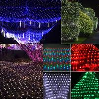 LED Lichternetz Karneval Lichterkette Außen Hochzeit Party Beleuchtung Deko