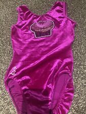 Girls Velour Cupcake Milano Leotard Size 30