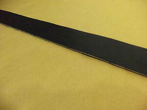 "12/13 Oz Black English Bridle Leather Belt Blank 44"" - 52"" (Various Widths)"
