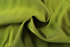 D140 LUXURIOUS GOLD OLIVE FINE CHEVRON STRIPE IRIDESCENT LINING MADE IN ITALY