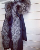 WOOLRICH Donna MILITARY PARKA BLU jacket woman - ORIGINALE LIST. 1300,00 SALDI