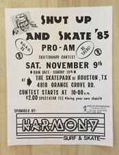 Zorlac Shut Up And Skate Skateboard Suas Flier 1985 Houston Tx Spoh
