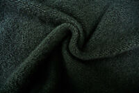 BLACK HEAVY BOILED WOOL CASHMERE BLEND CHUNKY SOFT KNIT MADE IN ITALY B140
