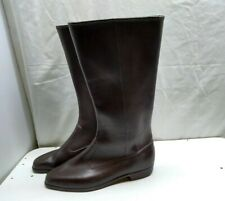 Rubber Brown Insulated Duck Pull On Mid Calf Rain Winter Boot Women's Shoes 9N