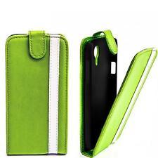 Handy Tasche Flip Style Case Samsung I9300 Galaxy S3 SIII Schutzhülle grün WEISS
