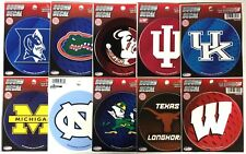 "Lot / 26 Officially Licensed 4 1/2"" round decals Duke FL&ST IU UK MI NC ND TX WI"