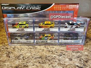 Acrylic Display Case for 1/64 Diecast Holds 6 Cars by Greenlight 55012 Nascar