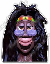 "Rastaman Rasta Bob Marley Pot Marijuana Car Bumper Vinyl Sticker Decal 3.6X5"""