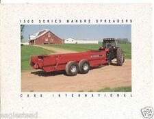 Farm Equipment Brochure - Case Ih - 1500 series - Manure Spreaders 1992 (F2091)