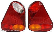2 x Rear Triangle Trailer Lights Lamp Fog Plate Brake Stop Indicator Reversing
