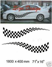 LARGE CHEQUERED FLAG GRAPHICS DECALS STICKER KIT 124
