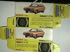 REPLIQUE  BOITE RENAULT 17 DINKY TOYS 1976-1979