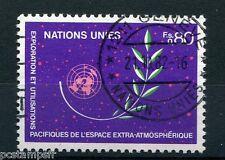 NATIONS UNIES - ONU - GENEVE, 1982, timbre 107, ESPACE, EXPLORATION, oblitéré