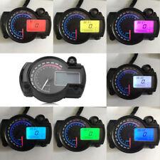Moto Digital LCD Velocímetro Cuentakilómetros Tacómetro con Velocidad Sensor
