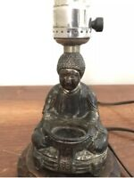Electric Antique Asian Figural Buddha Incense Burner 1940s Lamp Made in Japan