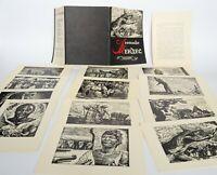 Leopoldo MENDEZ Anti Colonial Patriotic Propaganda MEXICO Set 12 postcards USSR