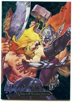 2018 Marvel Masterpieces Battle Spectra Gems Card Thor Odinson vs. Thor 51/99