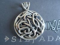 SILPADA RETIRED BOLD Oxidized Sterling Silver 925 Intertwined Knot Pendant S1691