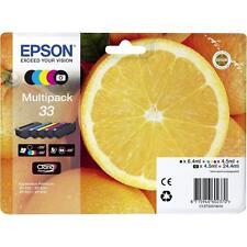 PACK 5 CARTOUCHE EPSON 33 NOIR + PHOTO + MAGENTA CYAN JAUNE / orange t3337 noire