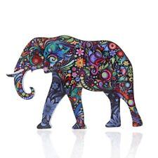 Fashion Colorful Printing Cute Animal Elephant Brooch Pin Women Costume Jewelry