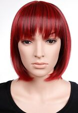 New Bob Wigs Short Straight Synthetic Hair Full Wig Real Thick 150% Denisty Hair
