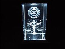 ZODIAC SIGN Láser Bloque libra con caja de luz blanca.