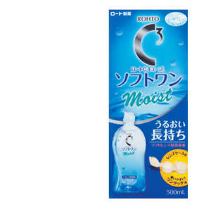 ☀Rohto C3 C Cube SOFT ONE MOIST a Soft Contact Lens Solution 500ml