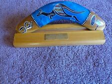 Genuine Jabiru Wooden Boomerang Australian Native Aboriginal Crafted with Stand