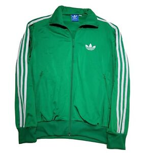 Adidas Originals Jacket Track Trefoil Green Tracksuit Long Sleeve 3-Strips EUC