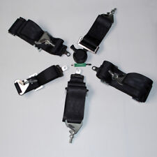 "3"" Inch 4 5 POINT QUICK RELEASE SEAT BELT HARNESS BLACK"