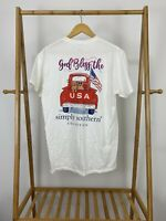 Simply Southern Women's God Bless The USA Short Sleeve T-Shirt Size M
