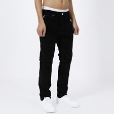 Jeans Pantalone Uomo Casual Mille Righe Velluto Slim Cord SWEET SKTBS Tg.44 Nero