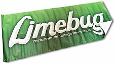 Limebug Garage Banner Lime Green Workshop Vinyl VW Camper Beetle Aircooled Bug