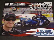 2014 JIM UNDERDAHL BAD BOY BUGGIES PRO STOCK MOTORCYCLE NHRA POSTCARD
