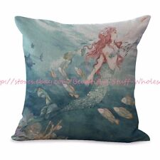 US SELLER-decorative pillow covers for couch mermaid cushion cover