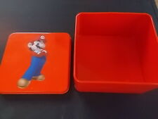Super Mario Brothers Official Nintendo Metal Lidded Box 2007 Red MINT Condition